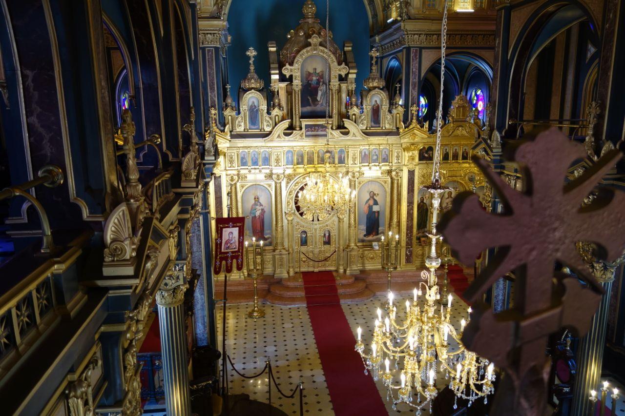 interieur ijzeren kerk Istanbul