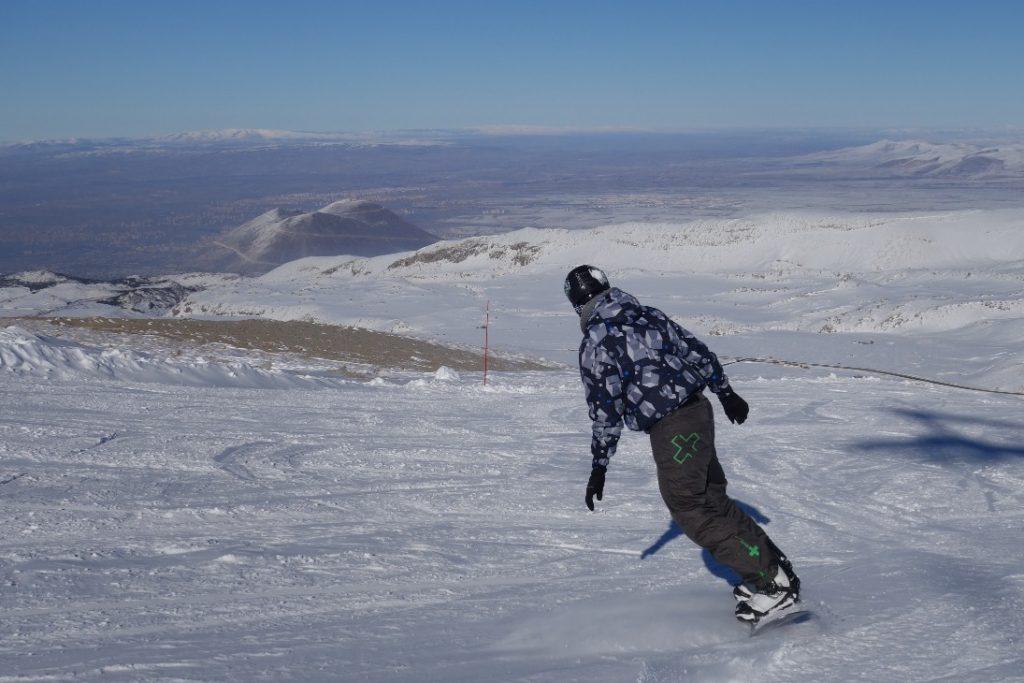 Erciyes piste snowboard