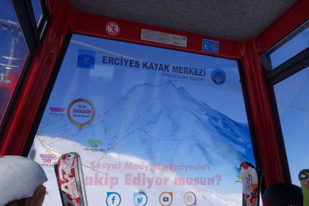 Erciyes skiën in Turkije gondel