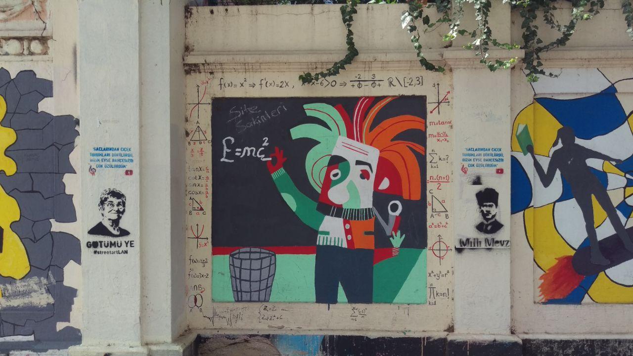 streetart Einstein afbeelding