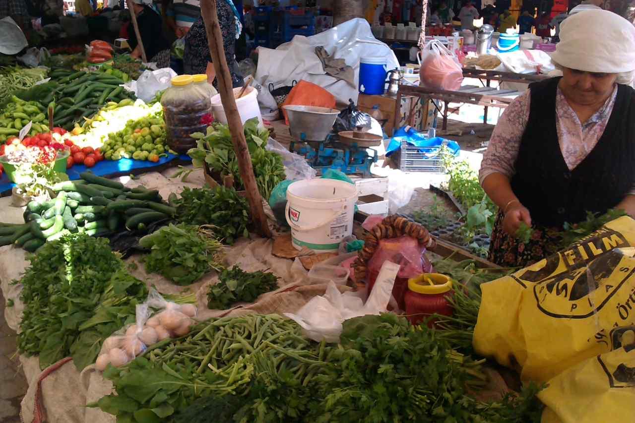 Dalyan markt groenten