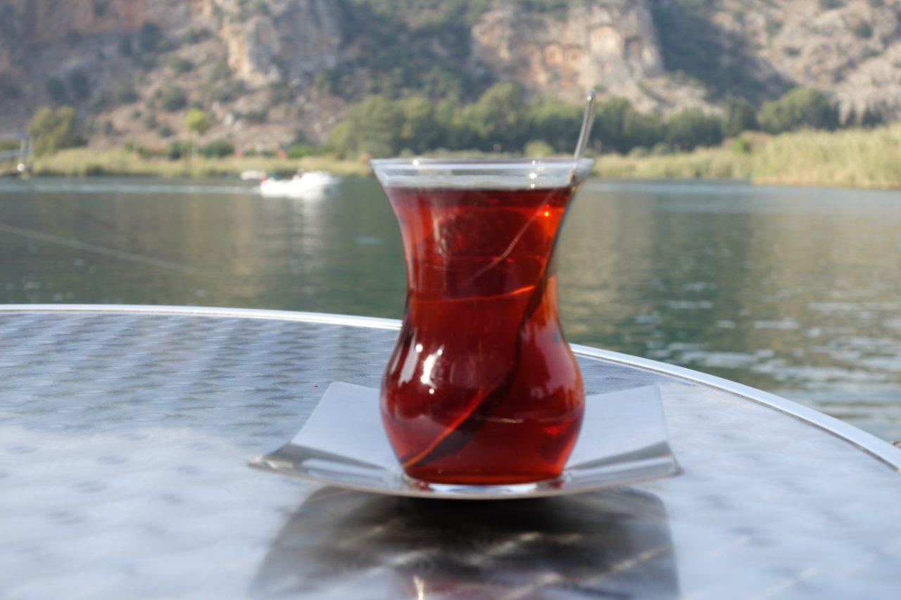 Dalyan thee aan de rivier