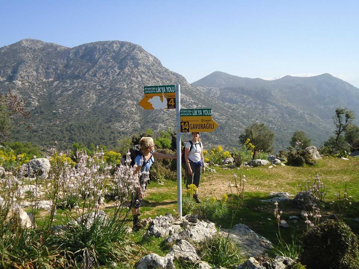 Lycian Way wegwijzer Gavuragili