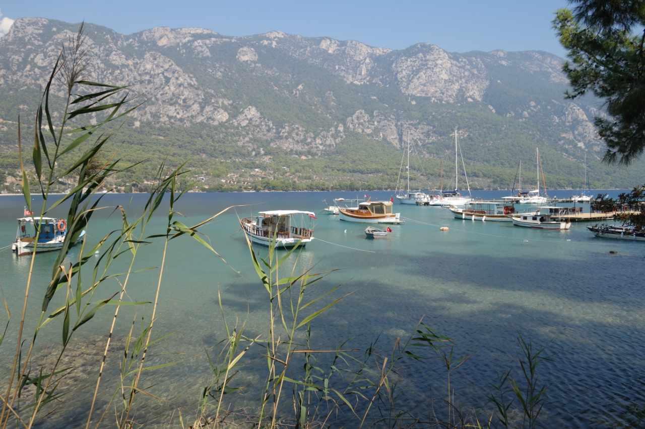 Rondreis Westkust Turkije Akbük baai uitzicht