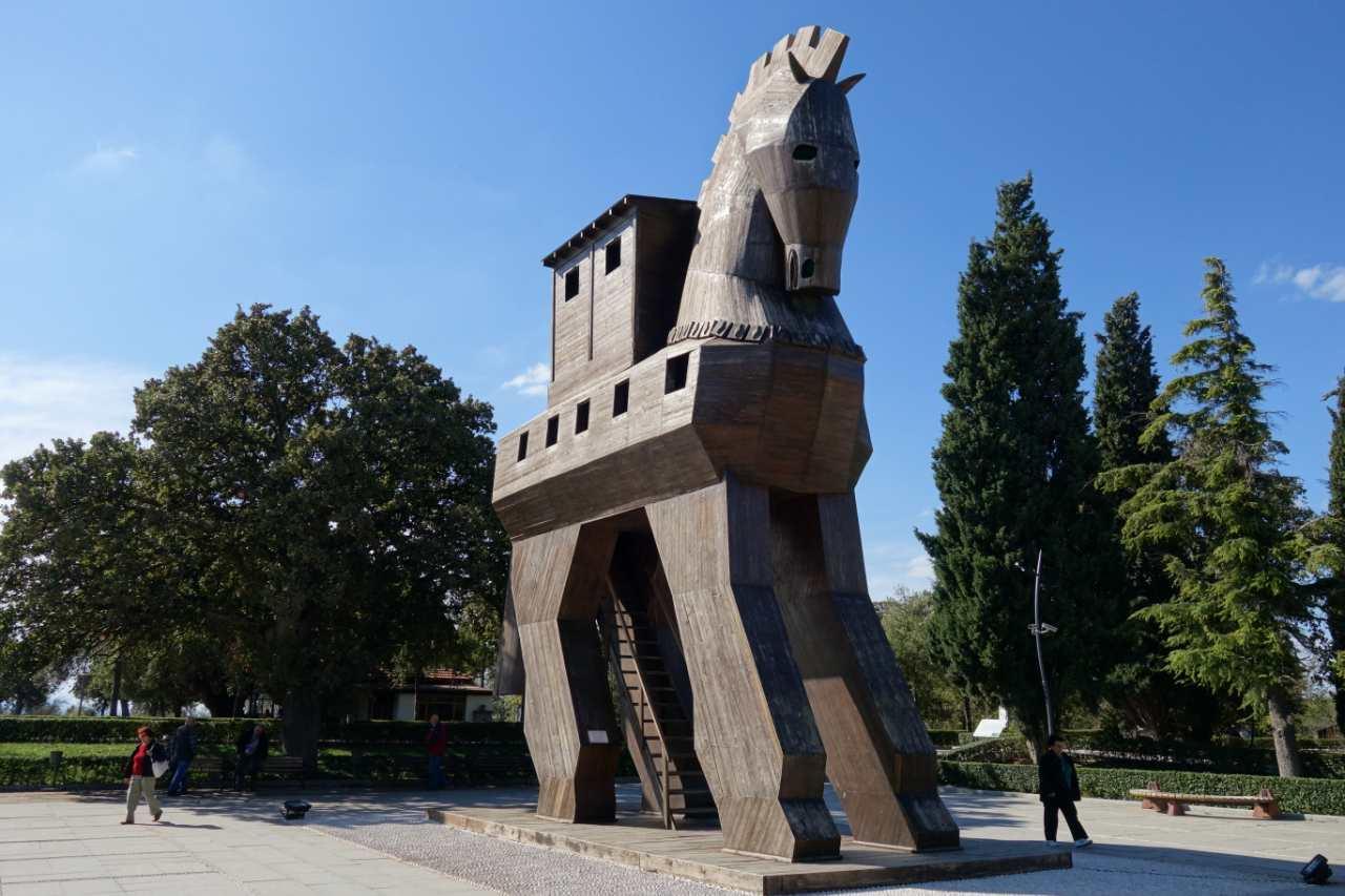 Rondreis Westkust Turkije Troje paard