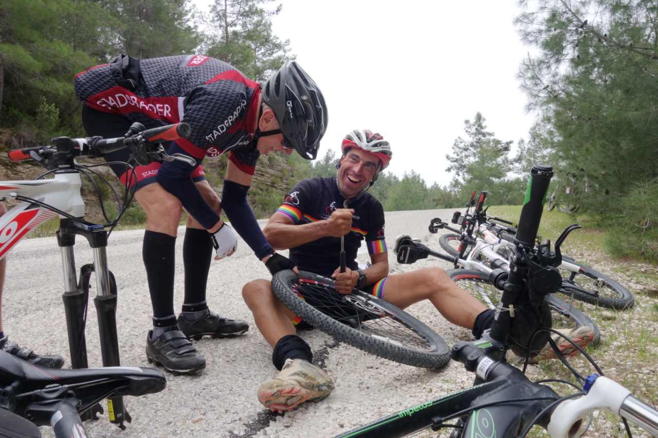 Bikefun Turkije band verwisselen