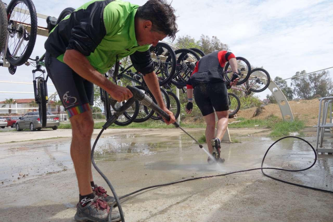 Bikefun Turkije fietsen schoonmaken