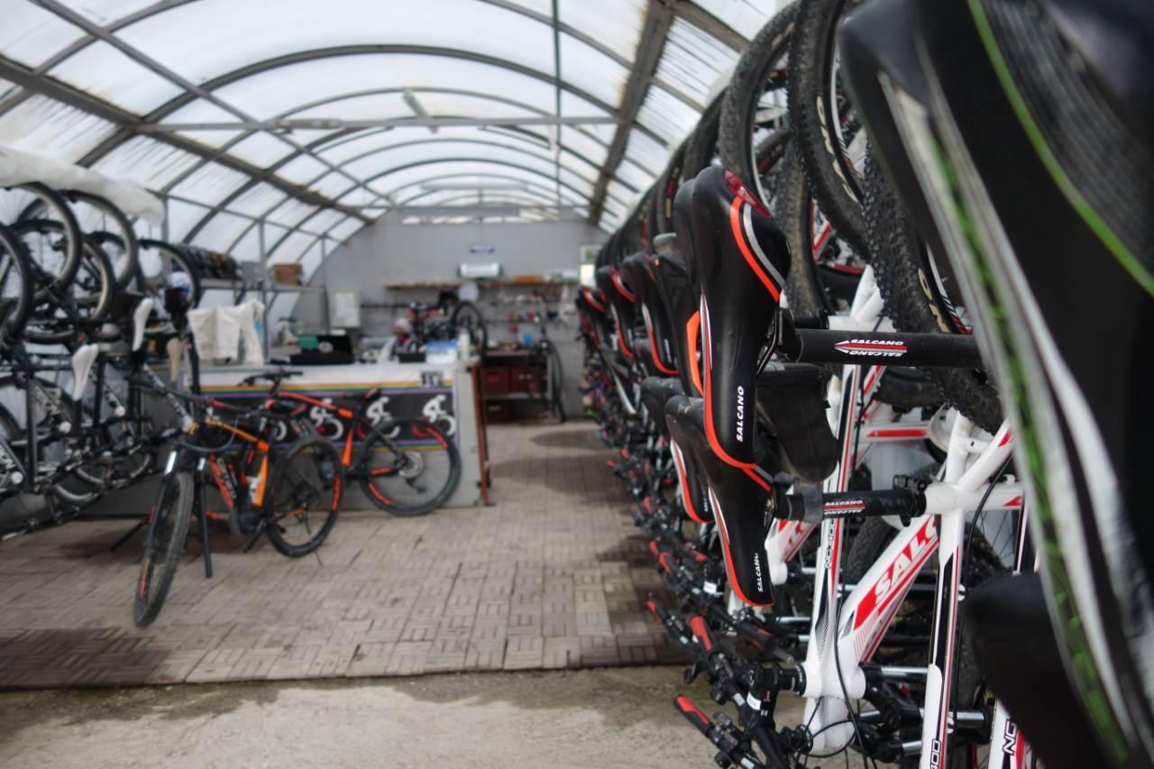 Bikefun Turkije hangar fietsen
