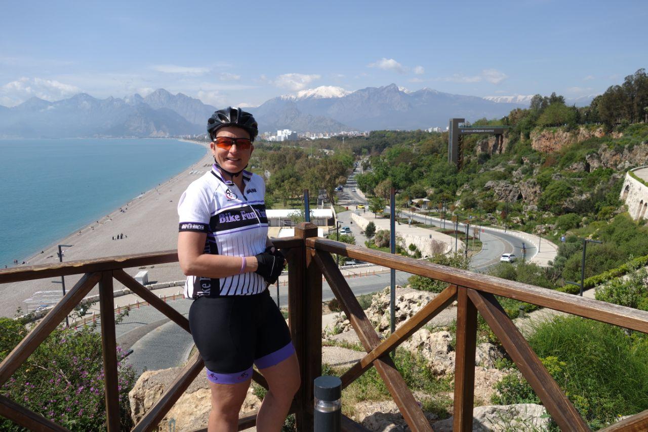 Fietstocht in Antalya uitzicht op Konyaalti