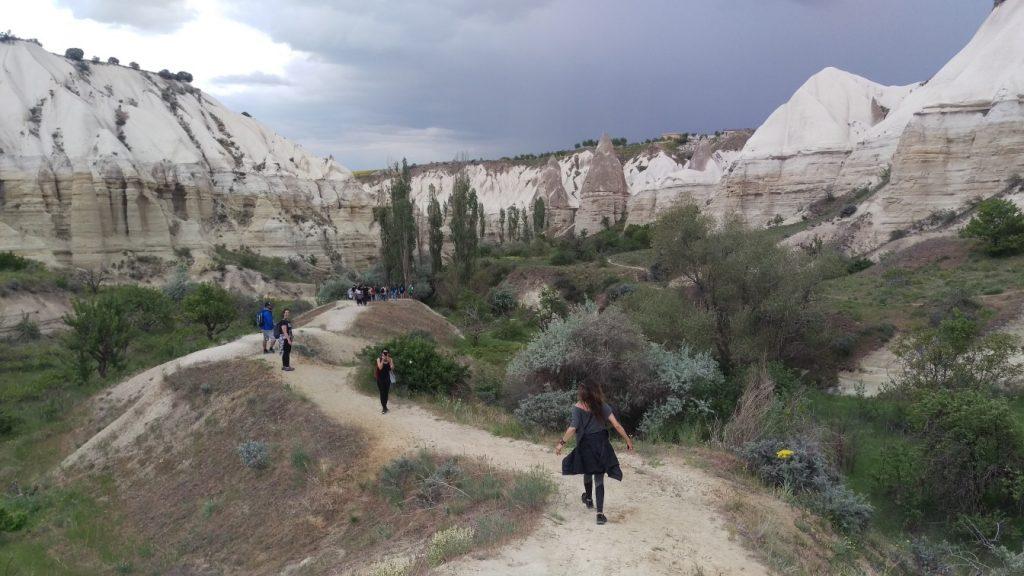 wandelen vallei Cappadocie