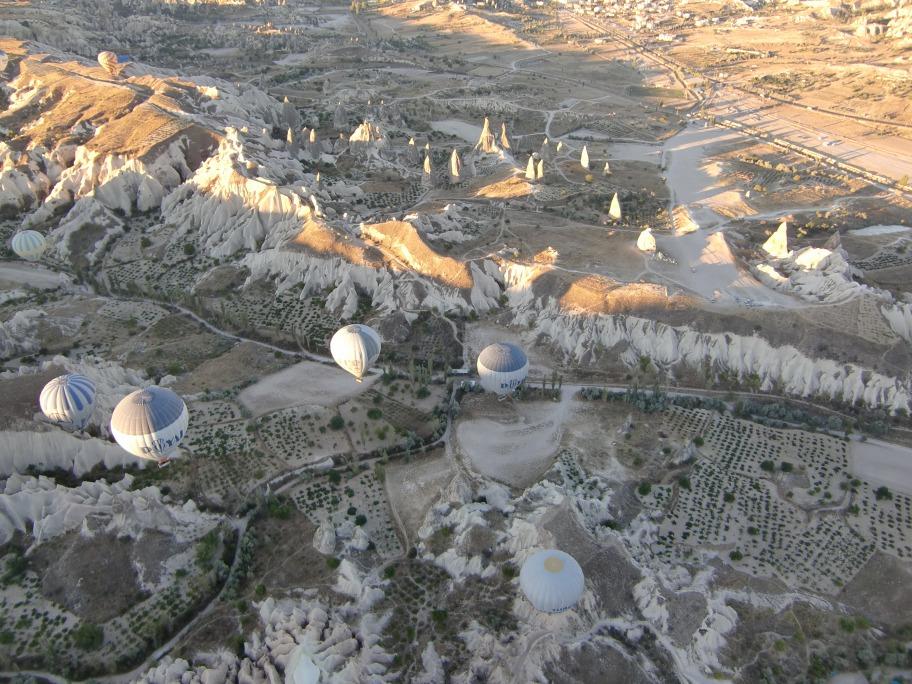 Cappadocie uitzicht vanuit ballon