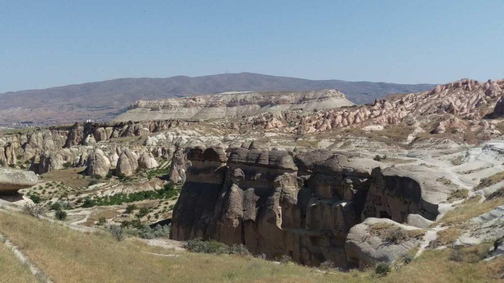 Cavusin Cappadocie uitzicht