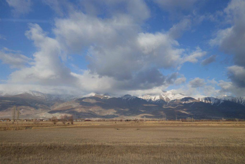 Dogu Express bergen en weiland uitzicht