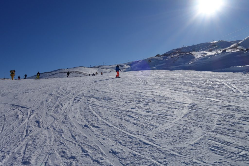 Wintersport op Erciyes, snowbord
