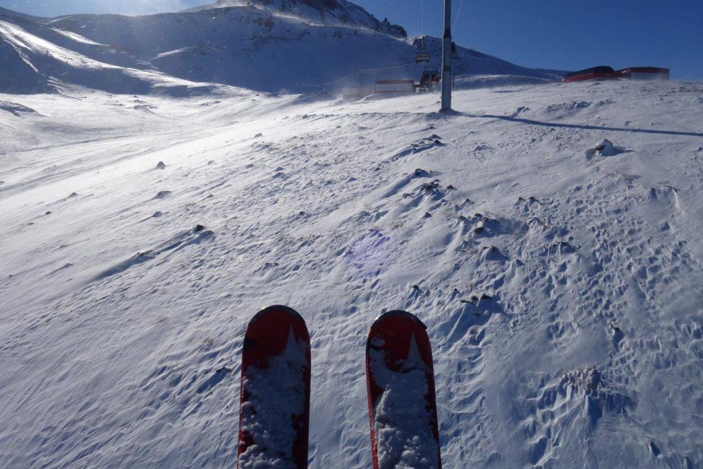 Wintersport op Erciyes, top van de vulkaan