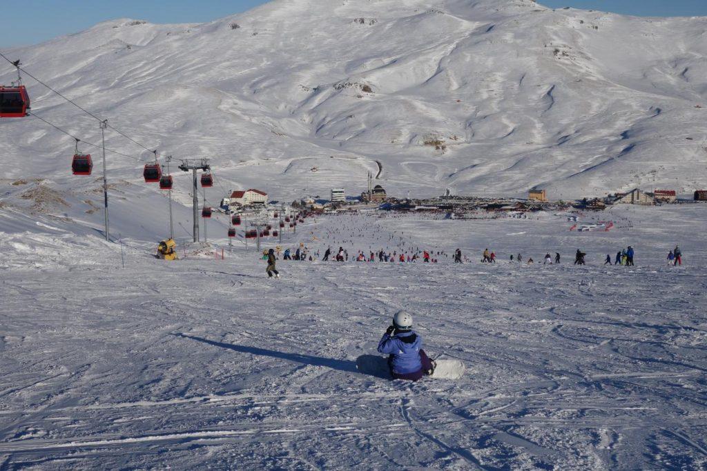 Winterpsort op Erciyes, skipiste Tekir