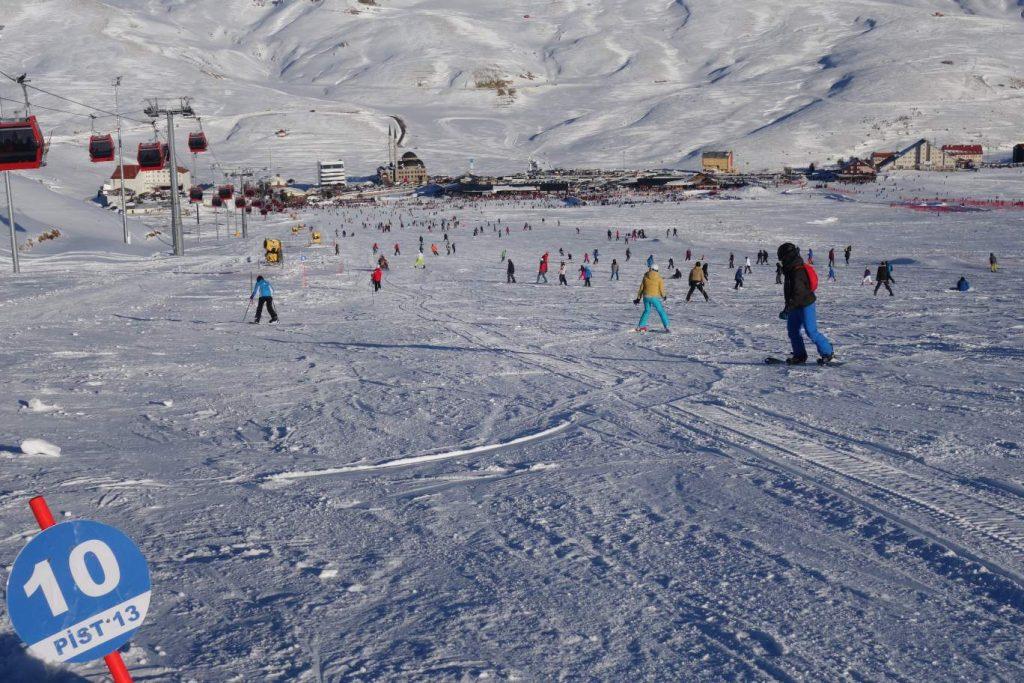 Eriyes vulkaan skiën