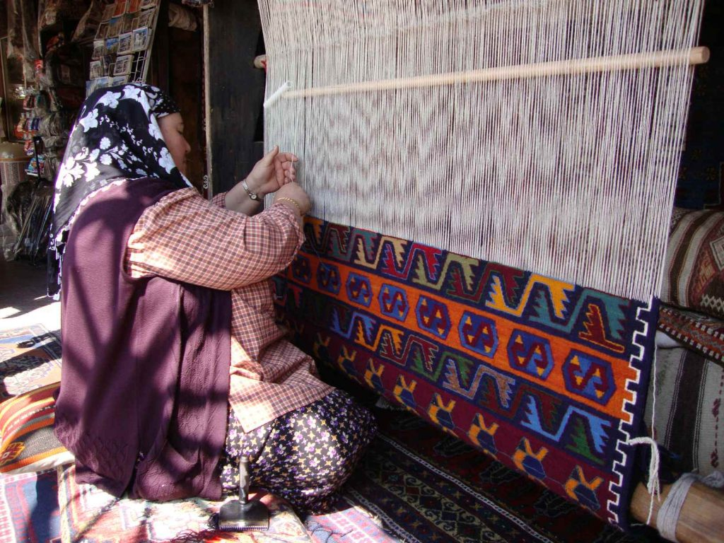 tapijt weven Göreme Turkije